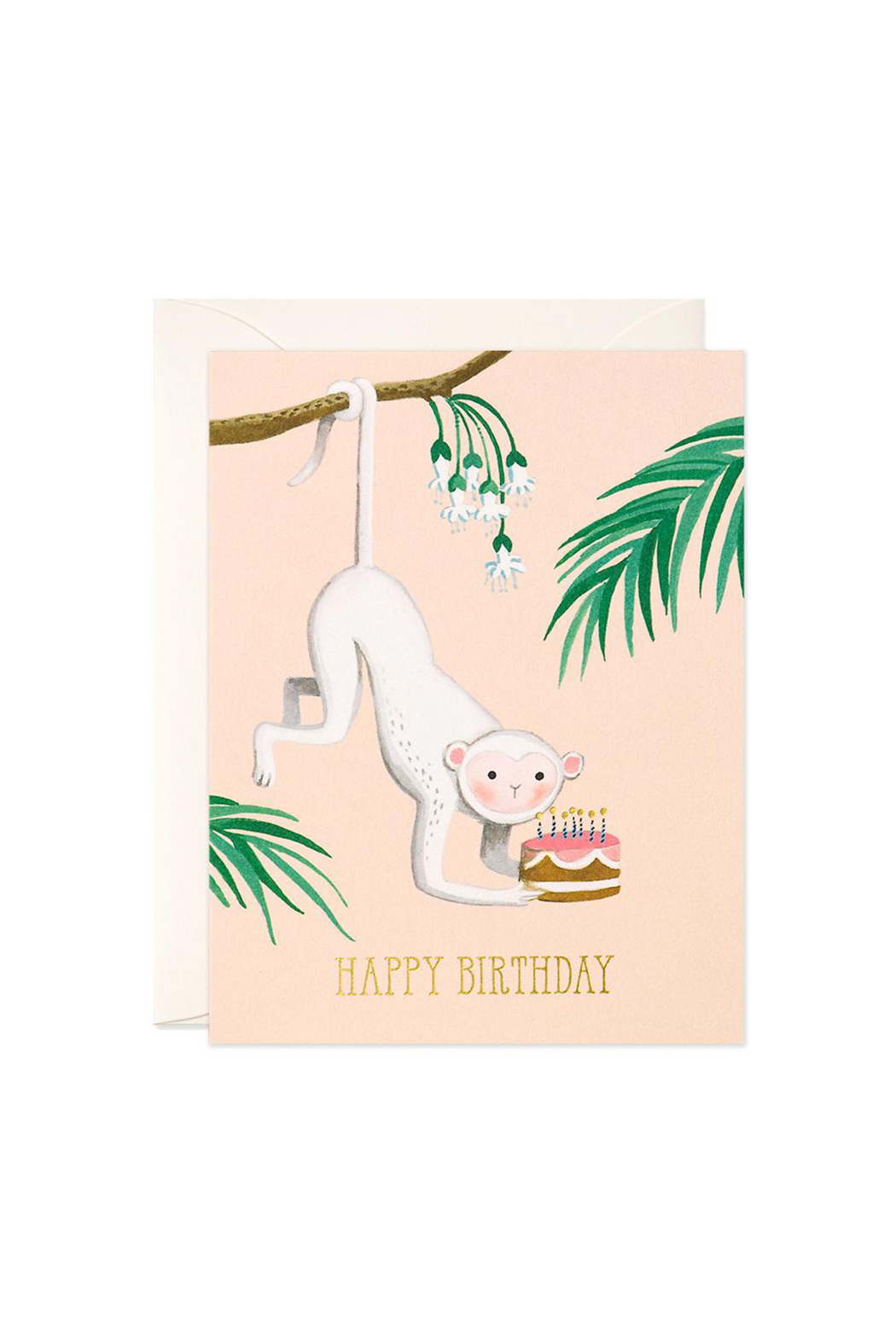 JooJoo Paper Monkey Birthday Card - Main Image