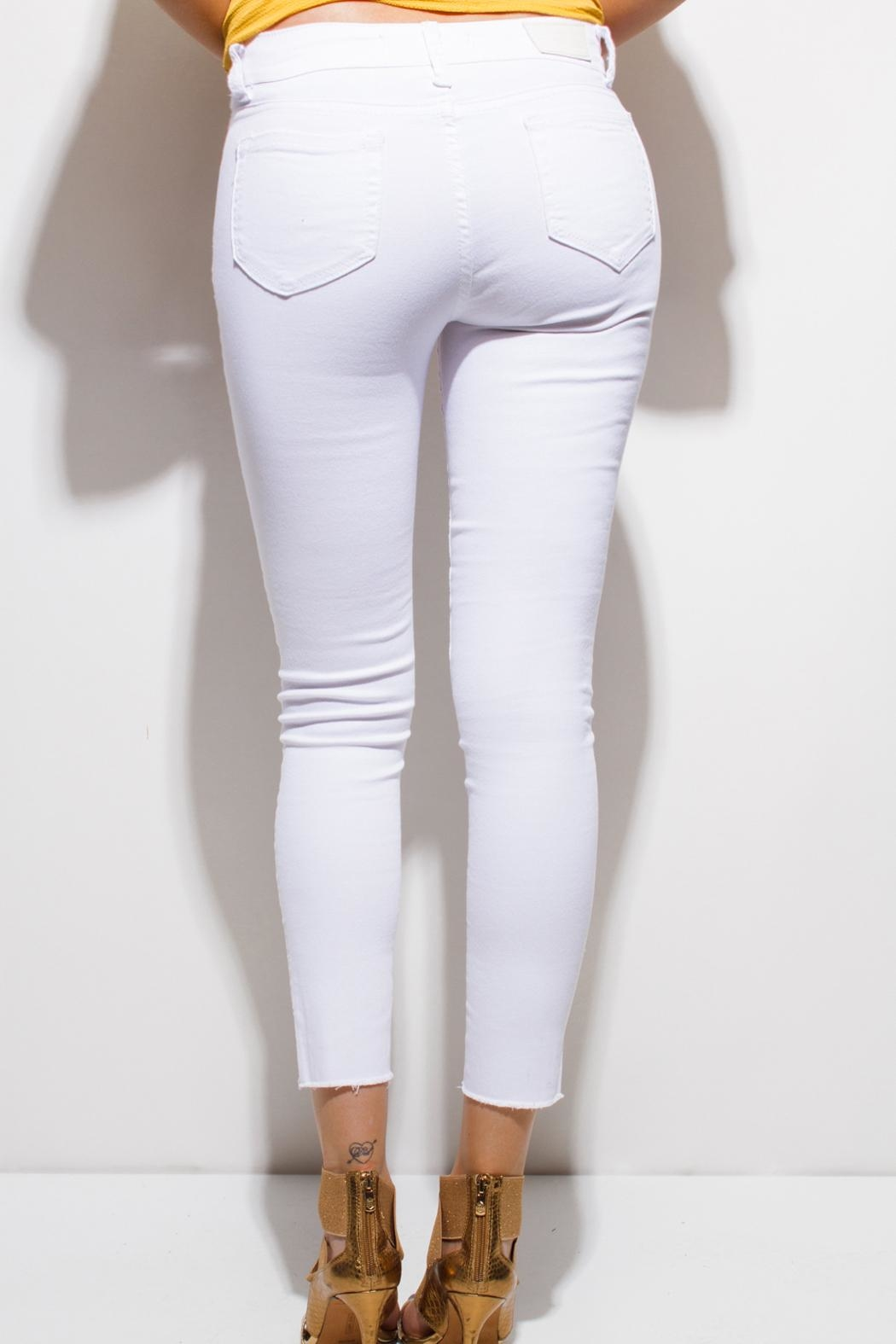 Monkey Ride Jeans Ripped Skinny Jeans - Front Full Image