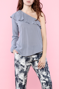 Shoptiques Product: One Sleeve  Ruffle Top