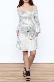 Shoptiques Product: Stripe Button Down Dress - Front full body