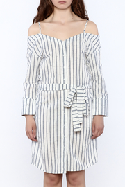 Shoptiques Product: Stripe Button Down Dress - Side cropped