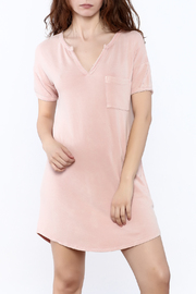 Mono B Textured T-Shirt Dress - Product Mini Image