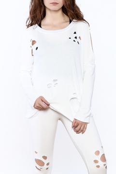 Shoptiques Product: White Distressed Top