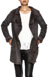 Mono Reno Faux Suede Coat - Product Mini Image