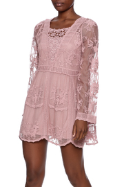 Mono Reno Mauve Lace Tunic - Product Mini Image