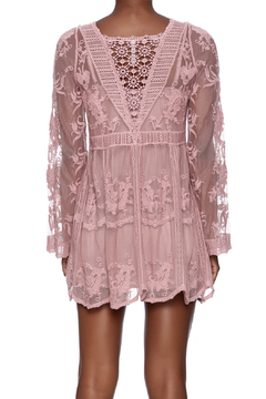 Mono Reno Mauve Lace Tunic - Alternate List Image