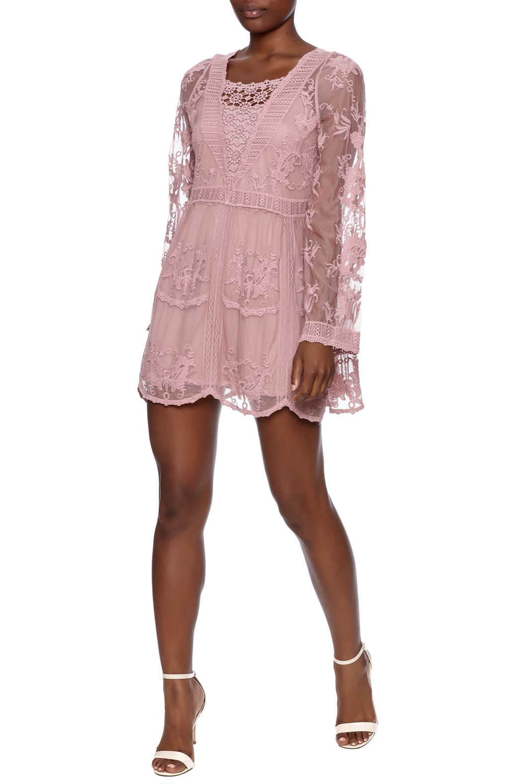 Mono Reno Mauve Lace Tunic from Pittsburgh by The Vintage Valet ...