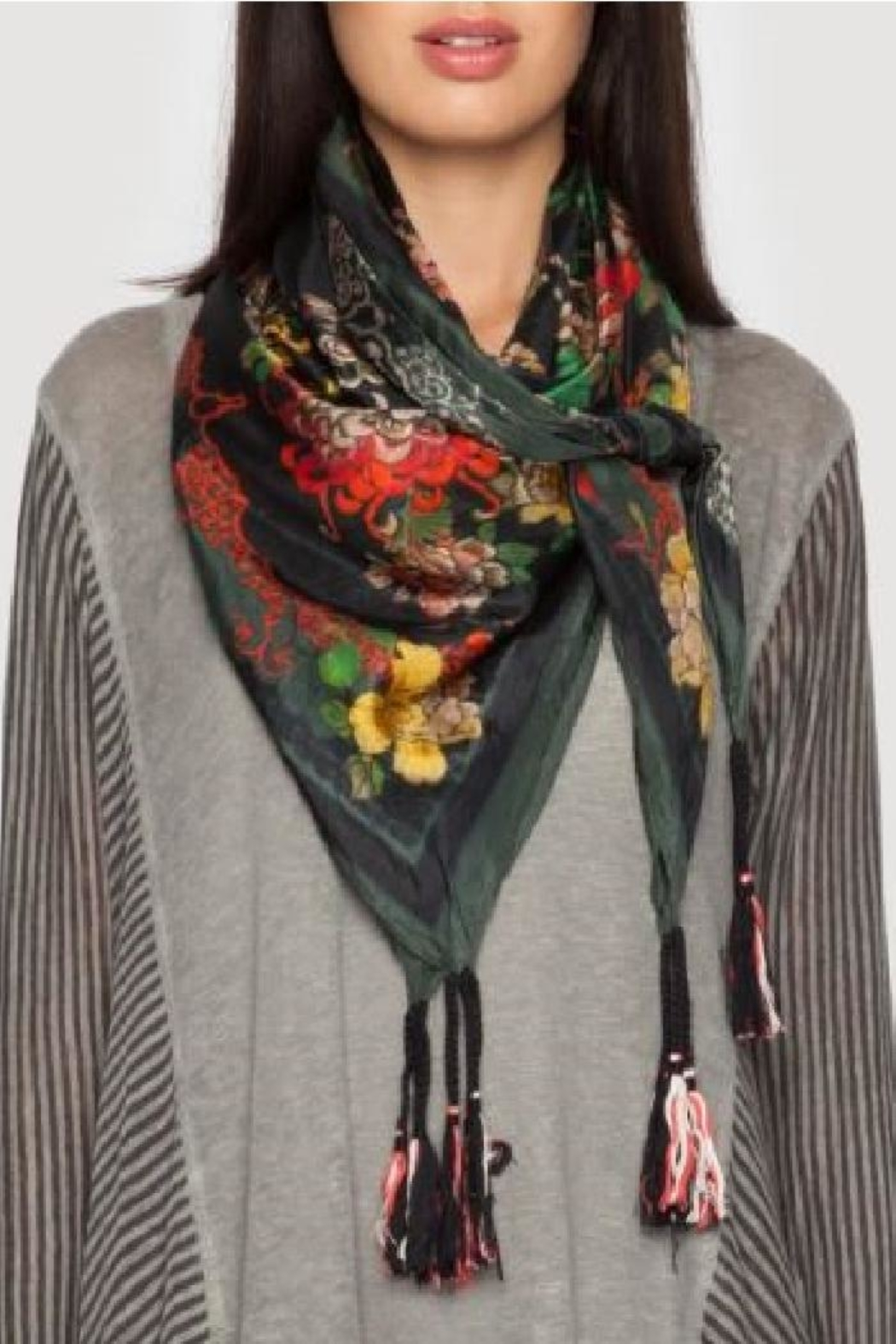 Johnny Was Mono Silk Scarf - Front Full Image