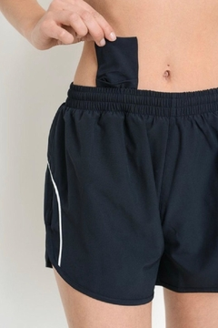 Mono B Black Athletic Shorts - Alternate List Image