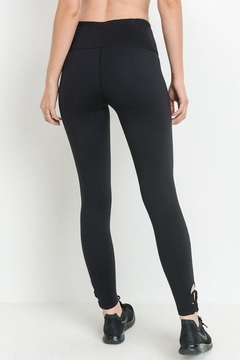 Mono B Black Detail Leggings - Alternate List Image