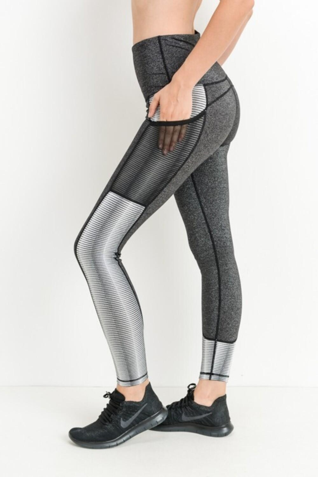 Mono B Block Mesh Leggings - Main Image