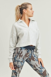 Mono B Boxy Collared Cropped Top - Front cropped