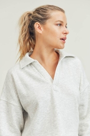 Mono B Boxy Collared Cropped Top - Side cropped