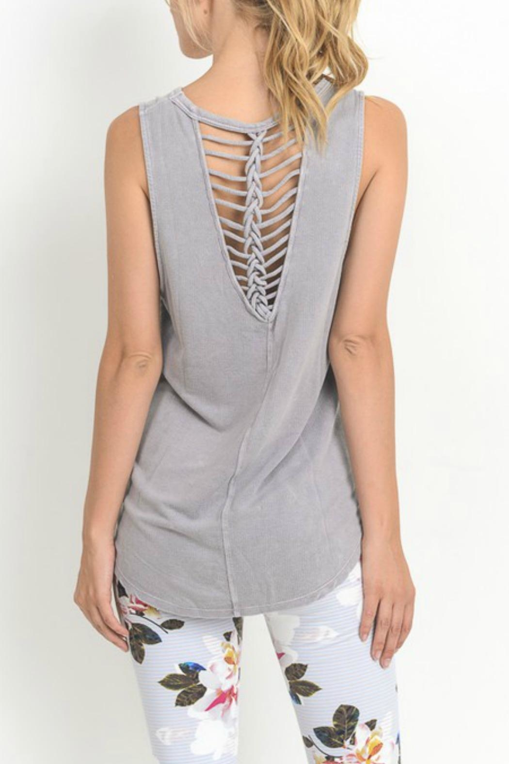 Mono B Braided Accent Tank - Front Cropped Image