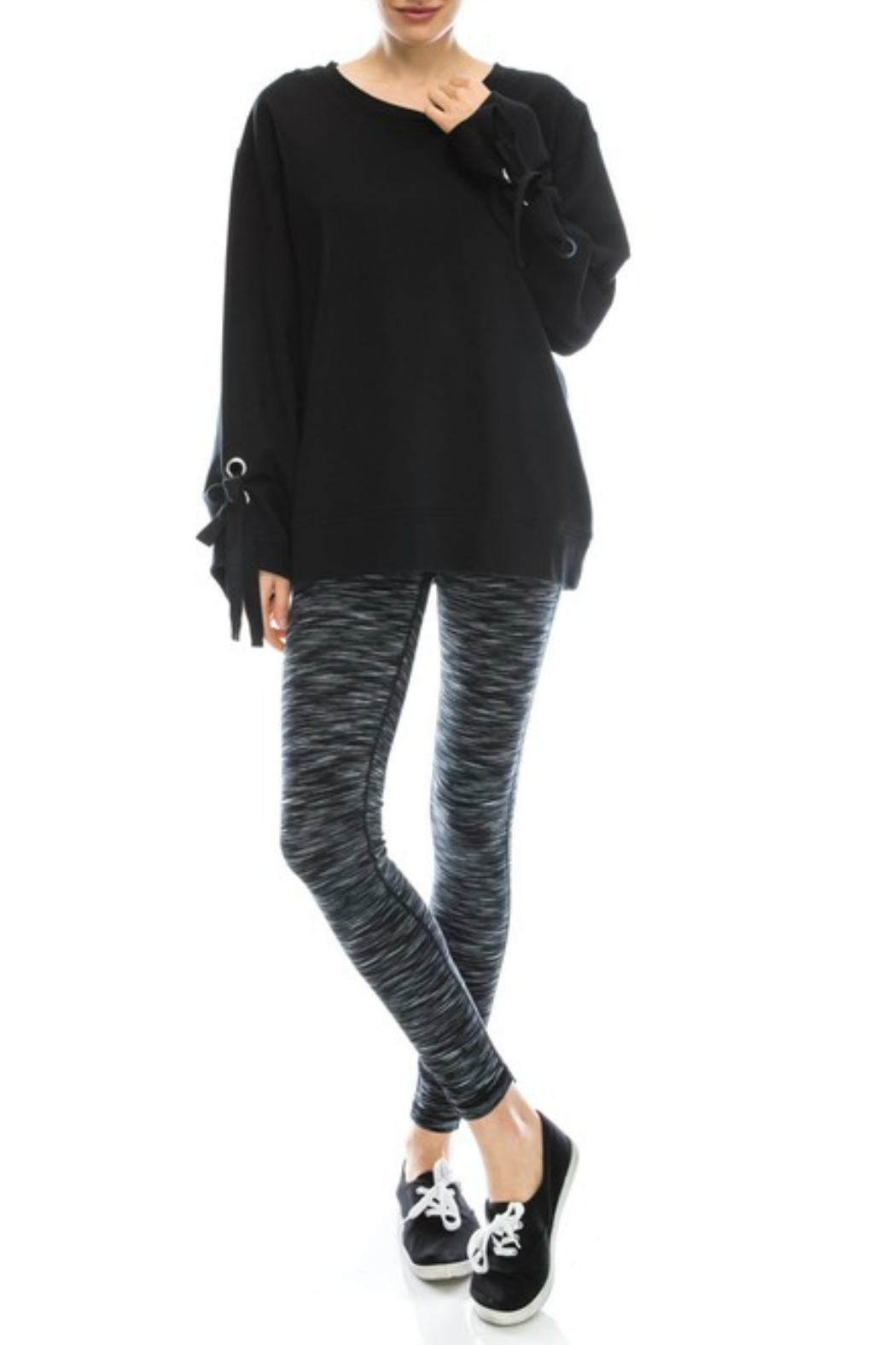 Mono B Comfy Black Sweatshirt - Side Cropped Image