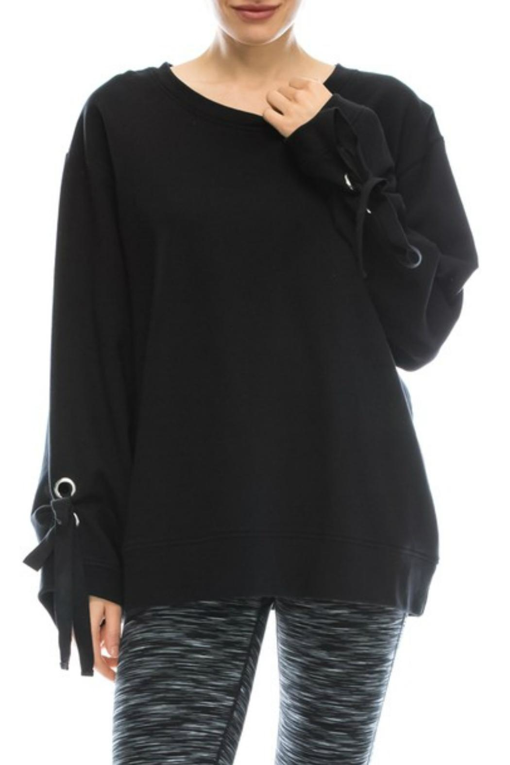 Mono B Comfy Black Sweatshirt - Main Image
