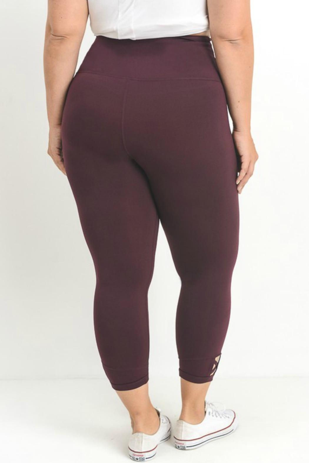 Mono B Criss Cross Legging - Side Cropped Image
