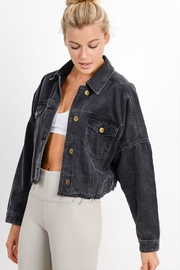 Mono B Crop Denim Jacket - Side cropped