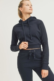 Mono B Cropped Hoodie Sweater - Product Mini Image