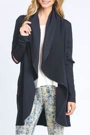 Mono B Cut Out Sleeve Cardigan - Front cropped