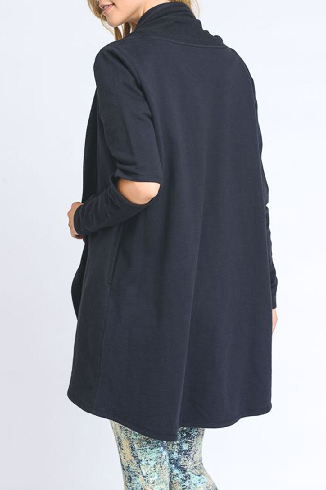 Mono B Cut Out Sleeve Cardigan - Front Full Image