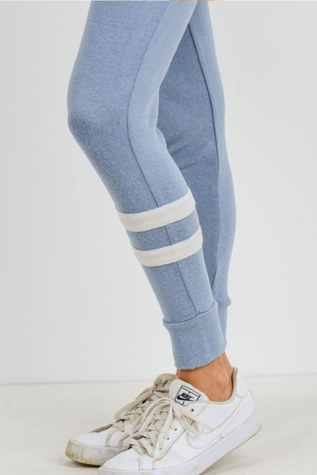 Mono B Double Stripe Joggers - Side Cropped Image