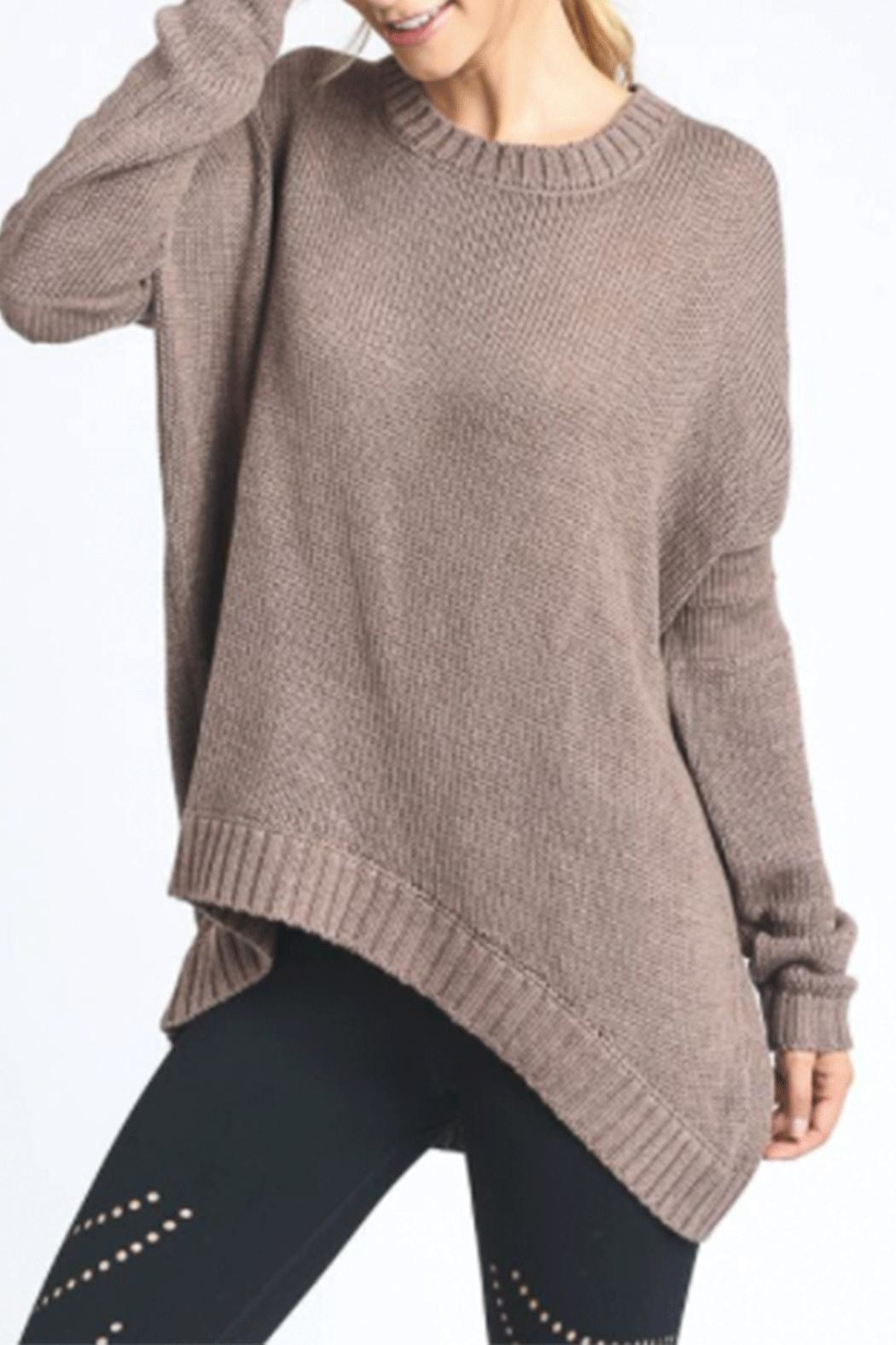 Mono B Elbow Cut-Out Sweater - Main Image