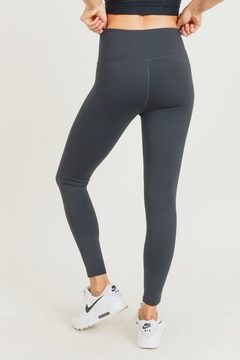 Mono B Black Charcoal Highwaist Leggings - Alternate List Image