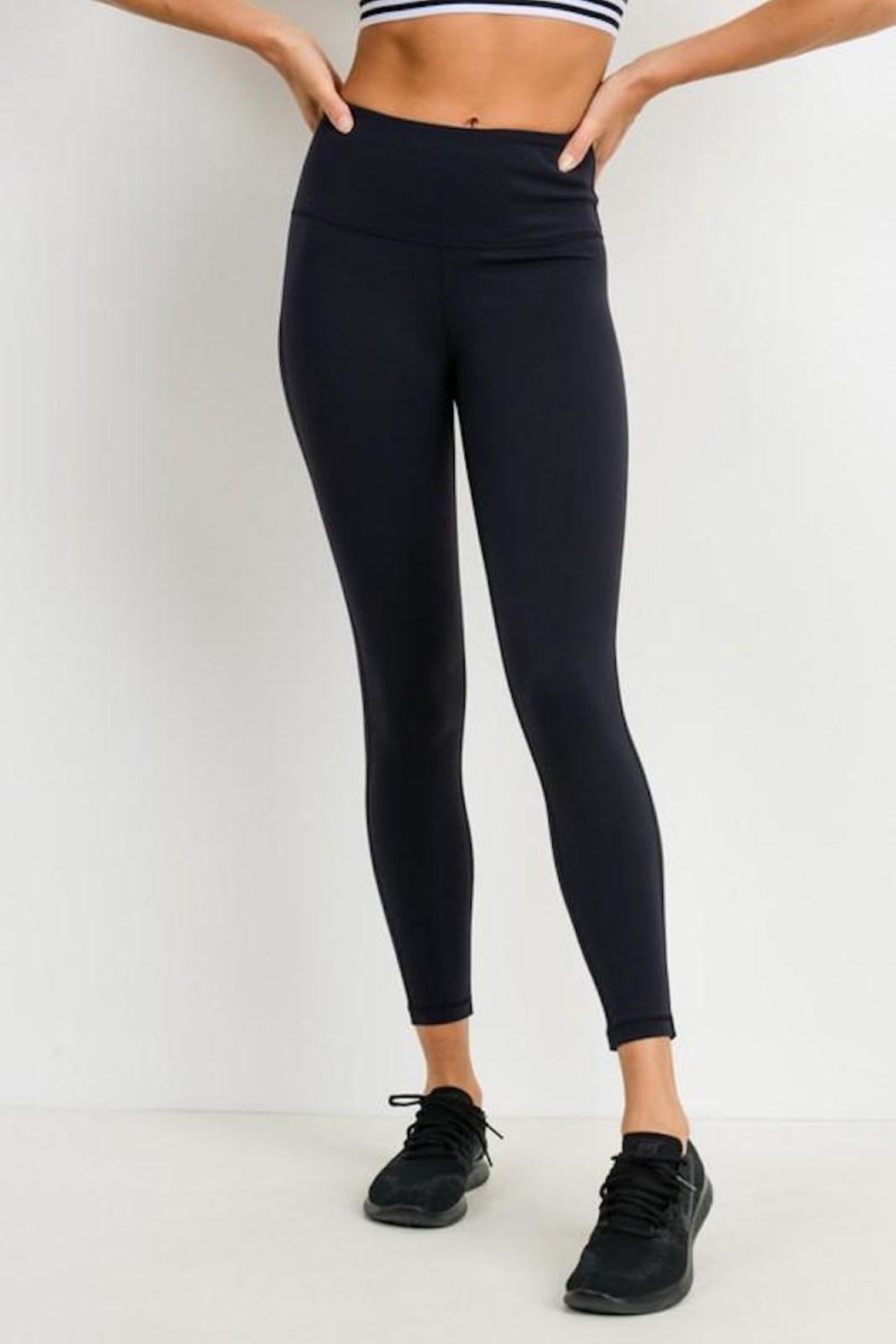 Mono B Essential Black Leggings - Front Cropped Image