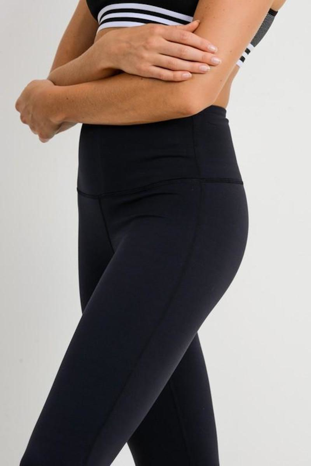 Mono B Essential Black Leggings - Front Full Image