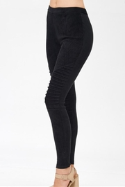 Mono B Faux Suede Leggings - Front cropped