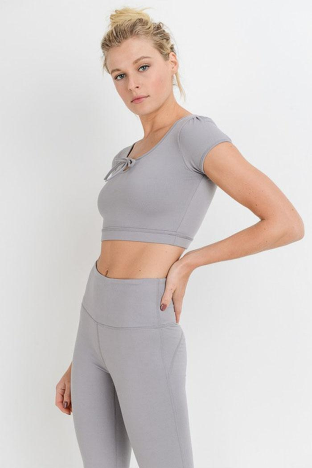 Mono B Form-Fit Crop Top - Side Cropped Image