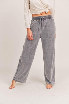 Mono B Fuzzy Mineral-Washed Lounge Pants - Product List Image