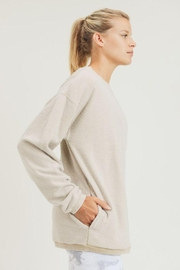 Mono B Fuzzy Mineral-Washed Pullover - Back cropped