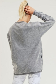 Mono B Fuzzy Mineral-Washed Pullover - Side cropped
