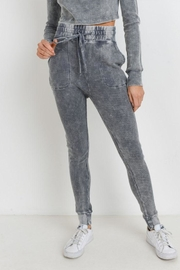 Mono B Grey Waffle Leggings - Front full body