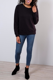 Mono B Lace Up Back Sweatshirt - Product Mini Image