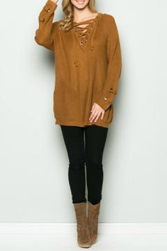 Miracle Lace Up Sweater - Product List Image