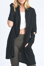Mono B Long Line Cardigan - Front cropped