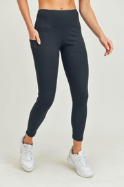 Mono B Micro-Ribbed High-Waisted Pocket Leggings - Front cropped