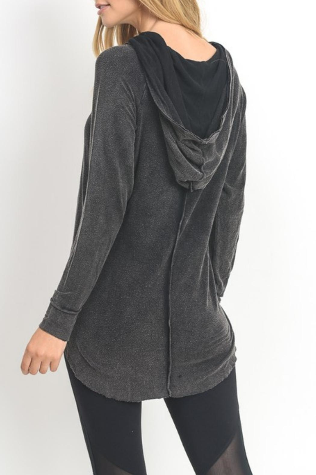 Mono B Mineral Washed Hoodie - Front Full Image