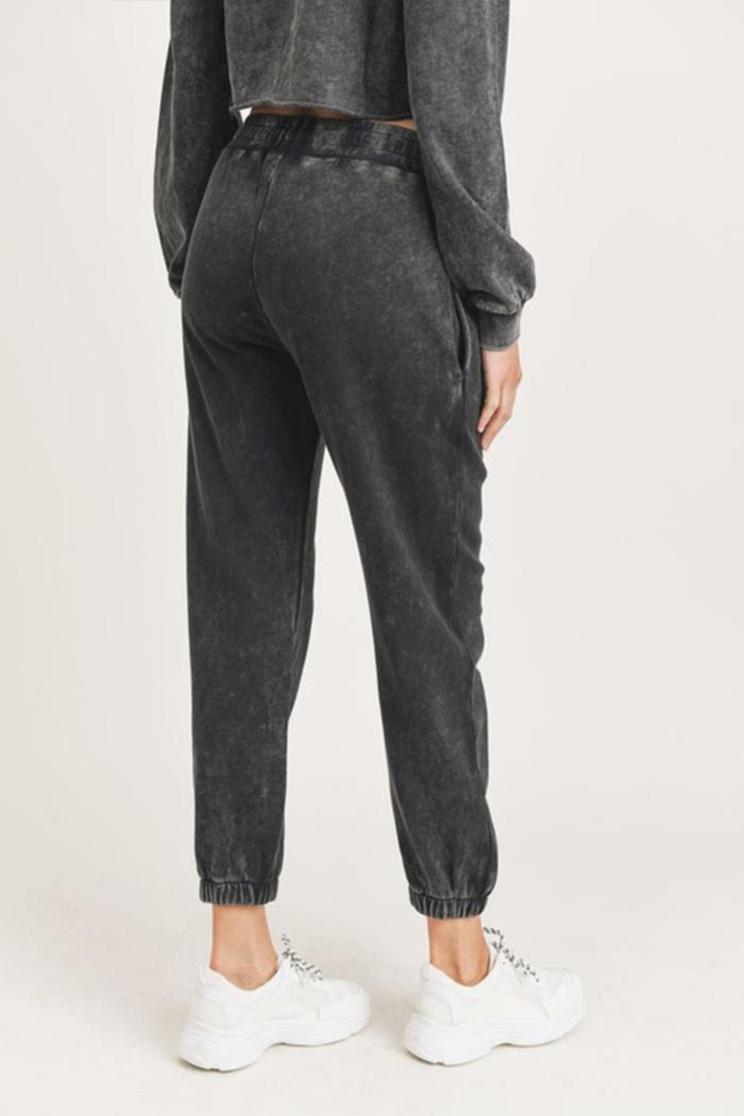Mono B Mineral Washed Joggers - Back Cropped Image