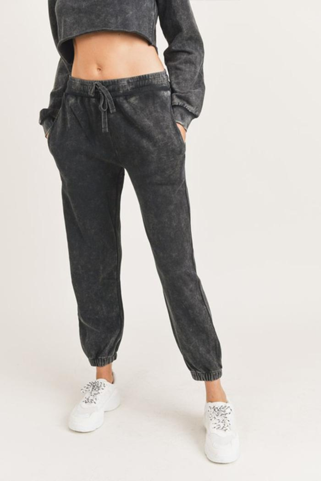 Mono B Mineral Washed Joggers - Side Cropped Image