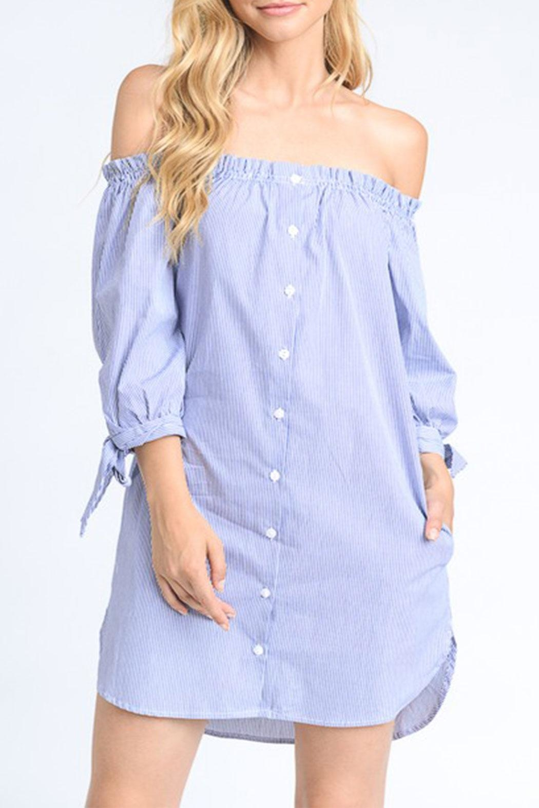 Mono B Off Shoulder Dress - Main Image