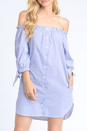 Mono B Off Shoulder Dress - Front cropped