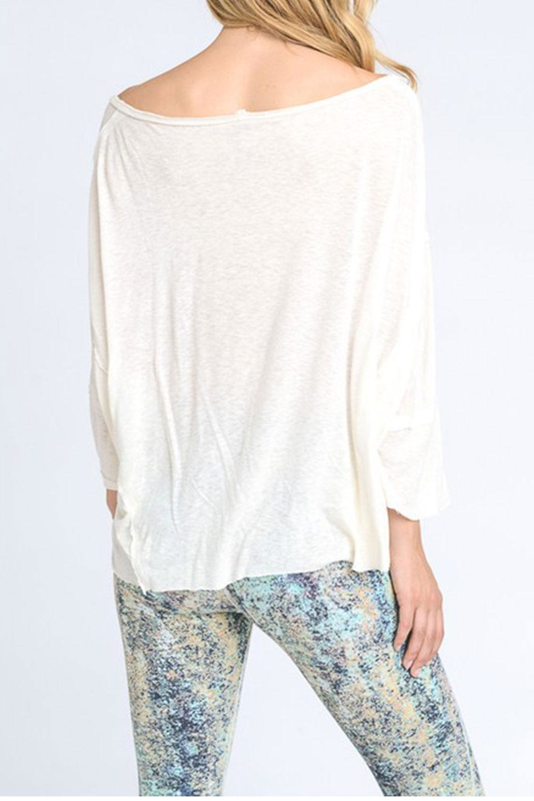Mono B Off Shoulder Tee - Front Full Image