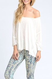 Mono B Off Shoulder Tee - Front cropped