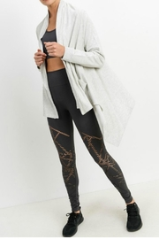 Mono B Open Front Cardigan - Back cropped