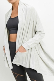Mono B Open Front Cardigan - Front cropped
