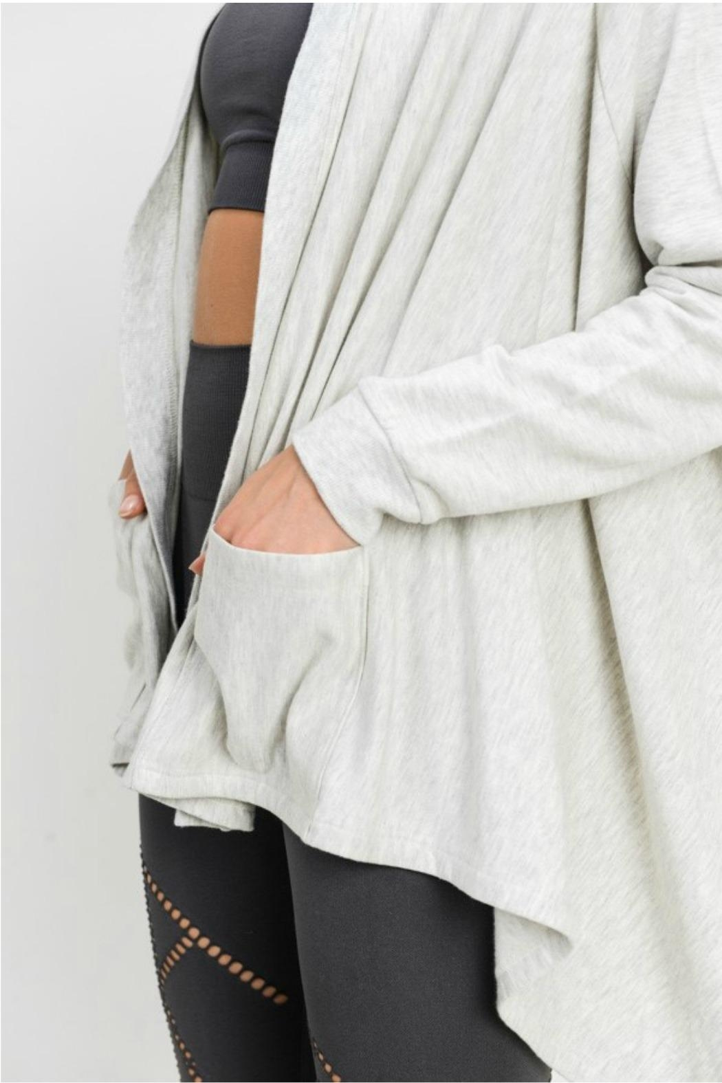Mono B Open Front Cardigan - Side Cropped Image